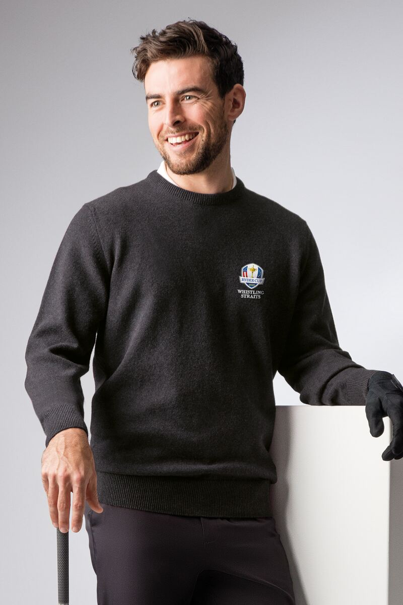 Official Ryder Cup 2020 Mens Crew Neck Lambswool Golf Sweater