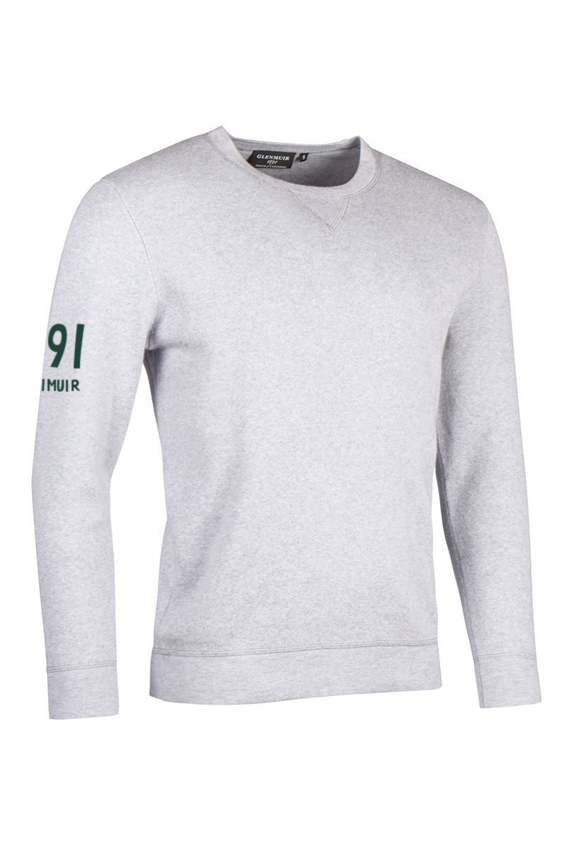 Mens and Ladies Crew Neck V Insert Touch of Cashmere 1891 Sleeve Heritage Luxury Sweatshirt