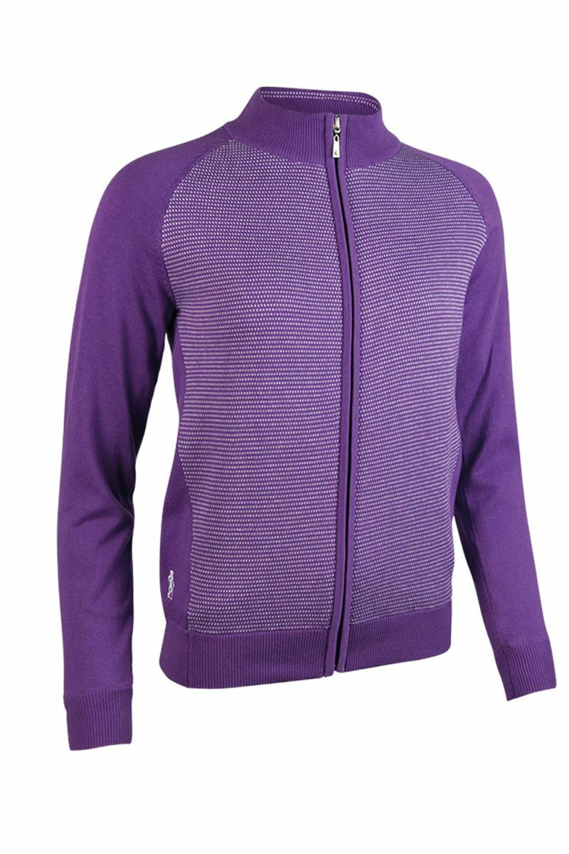 Ladies Cotton Birdseye Lined Zip Front Cardigan - Sale