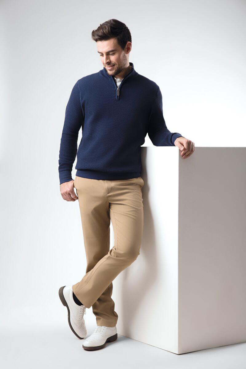 exquisite craftsmanship exclusive shoes best collection Men's Navy Blue Golf Outfit with Khaki - Glenmuir