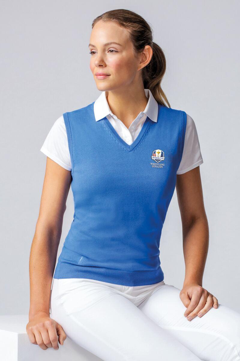 Official Ryder Cup 2020 Ladies V Neck Cotton Golf Slipover