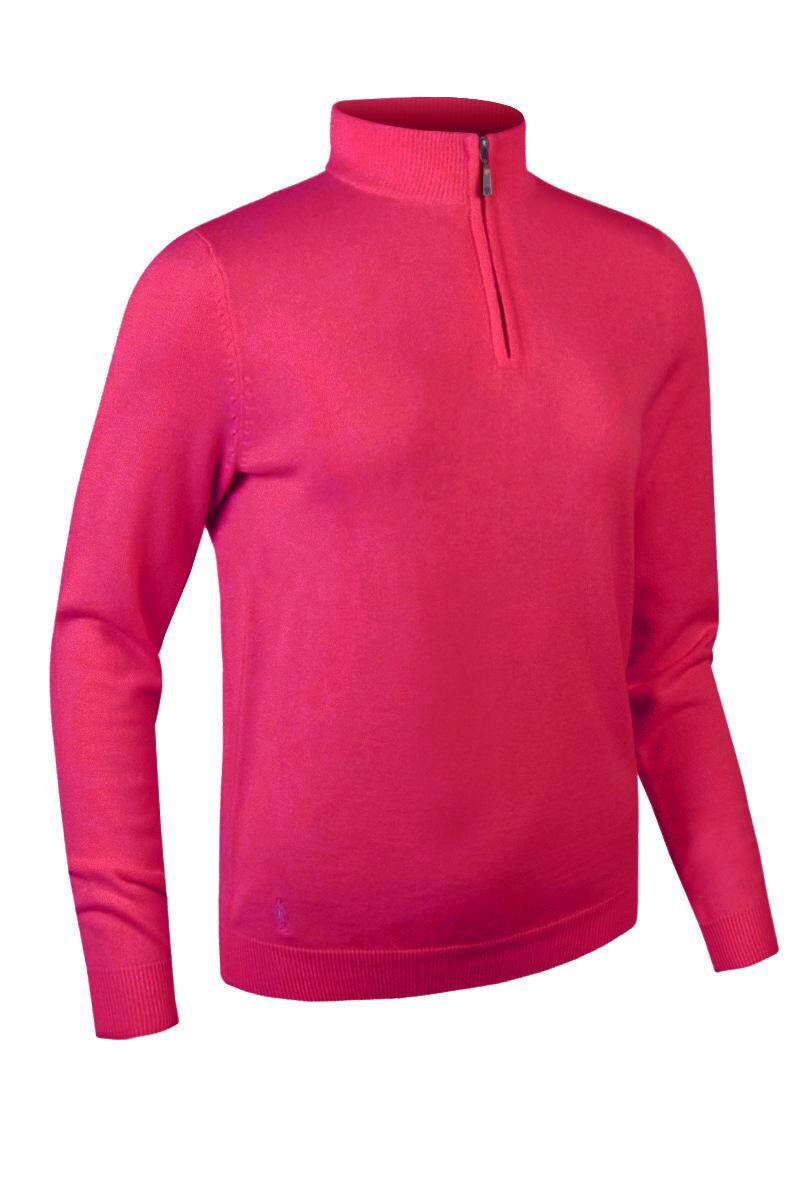 Ladies Zip Neck Cotton Golf Sweater - Sale Product Swatch