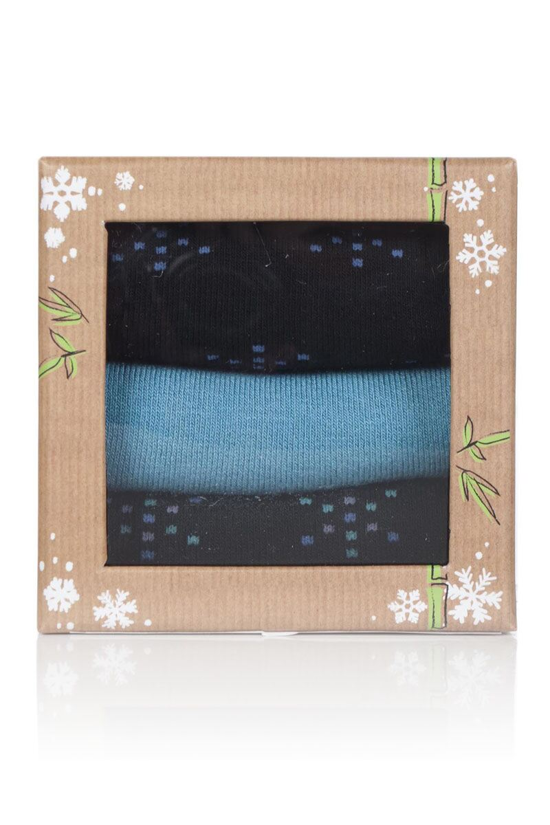 Ladies 3 Pair Snowflake Bamboo Socks In a Gift Box Product Image 2