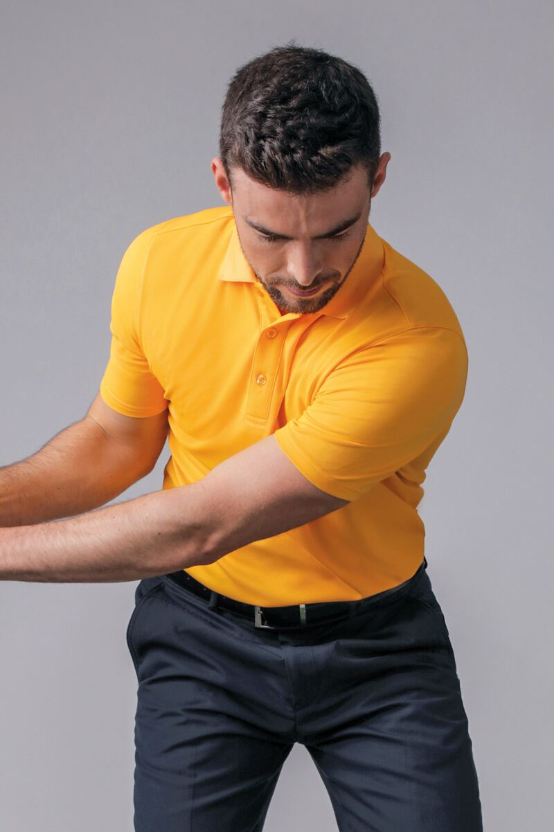 Mens Performance Pique Golf Polo Shirt Product Image 1