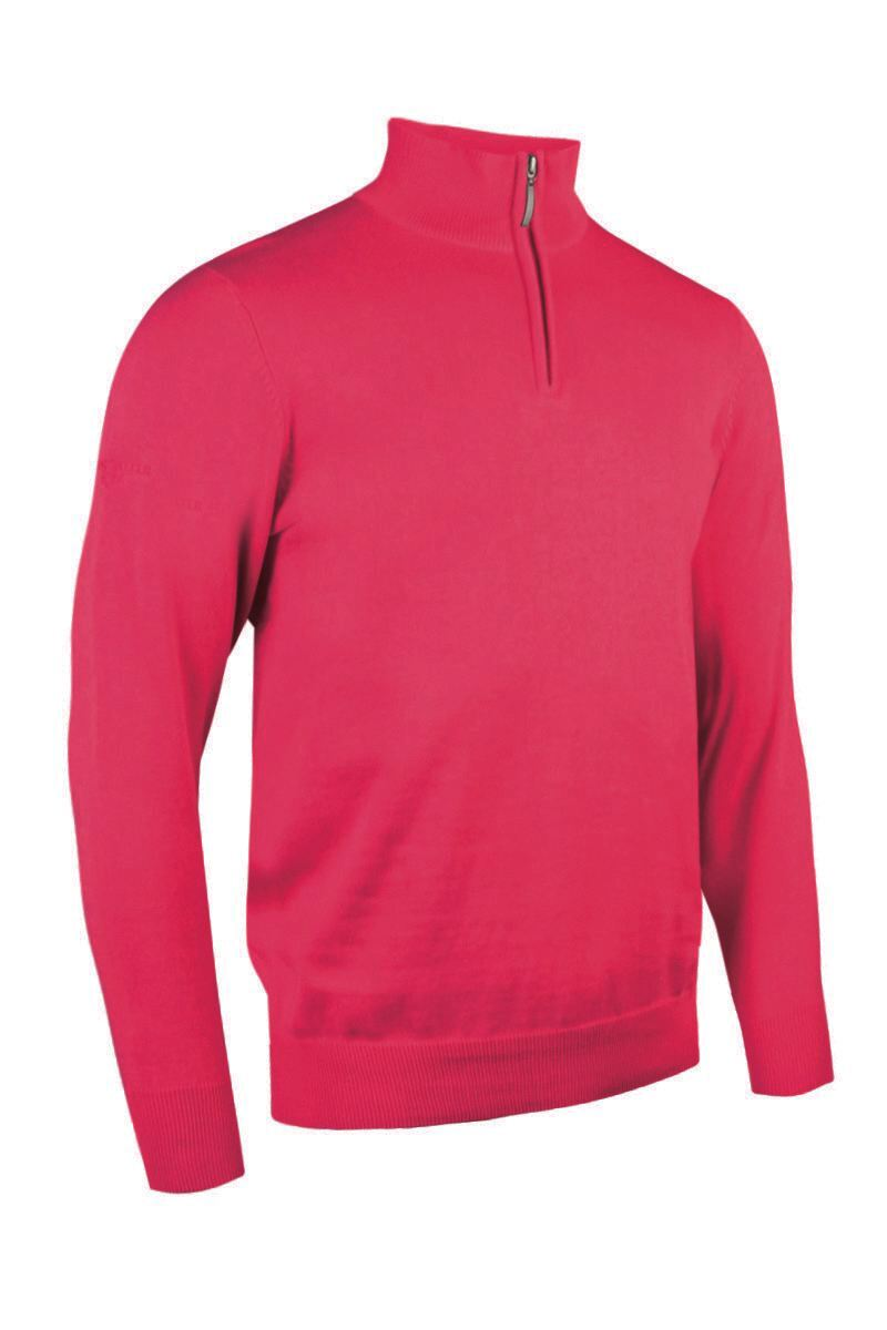 Mens Zip Neck Lightweight Cotton Golf Sweater - Sale Product Swatch