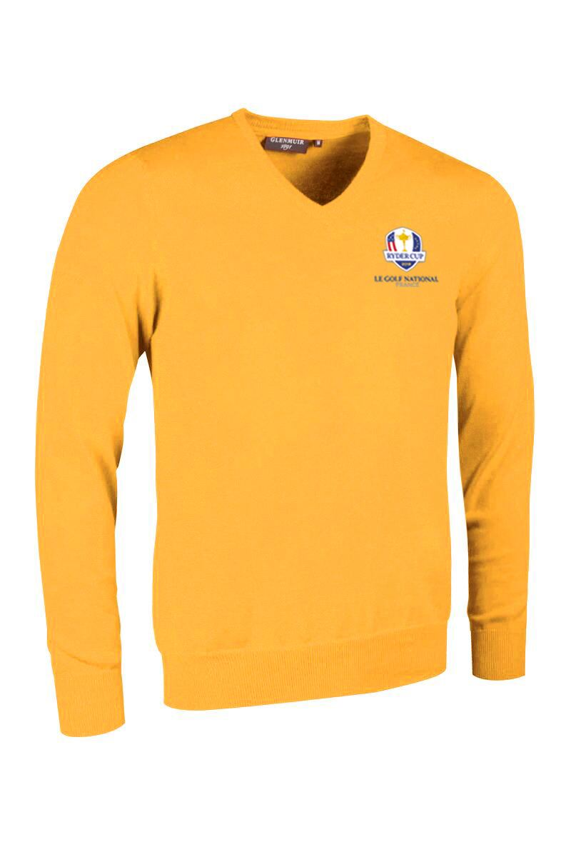 Official Ryder Cup 2018 Mens V Neck Cotton Golf Sweater Product Swatch