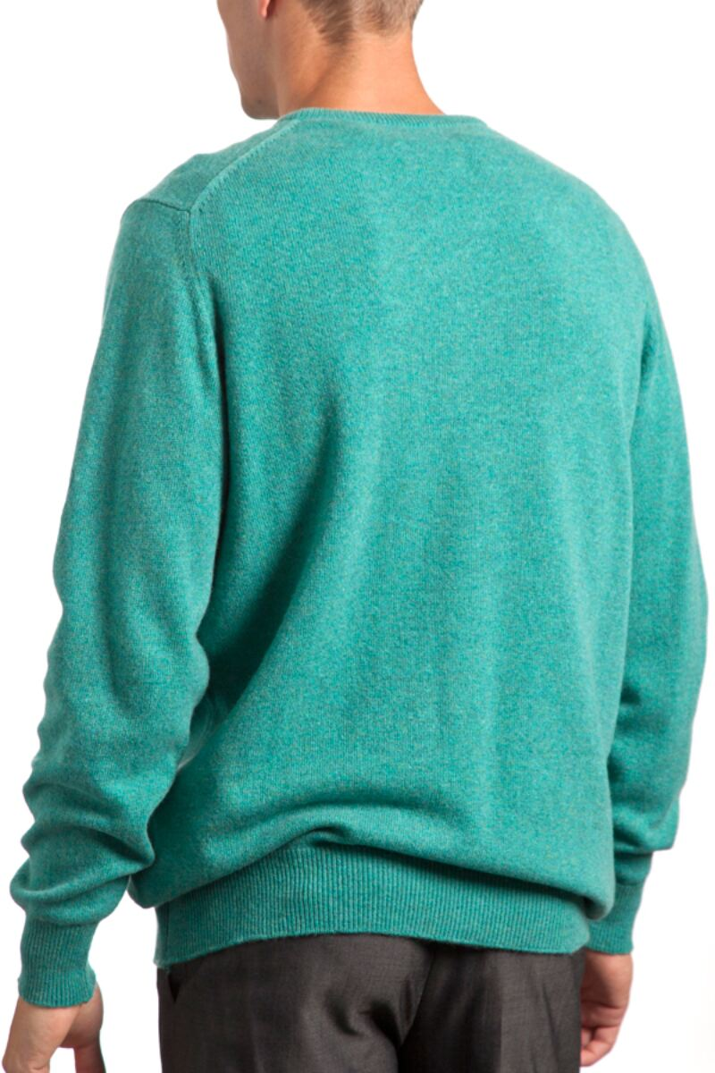 Heritage V Neck 100% Cashmere Sweater Product Image 2