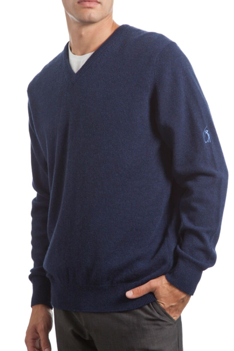 Heritage V Neck 100% Cashmere Sweater Product Image 8
