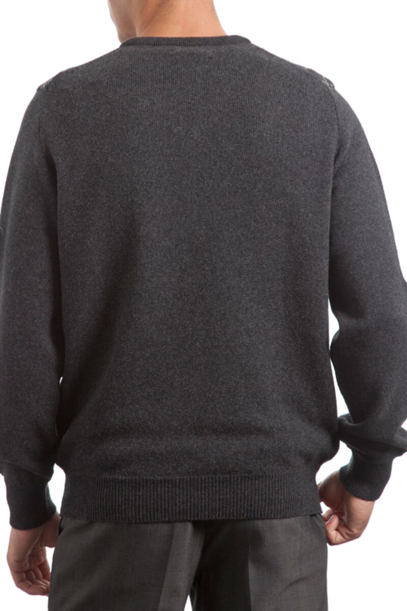 Heritage V Neck Argyle Touch of Cashmere Sweater Product Image 4