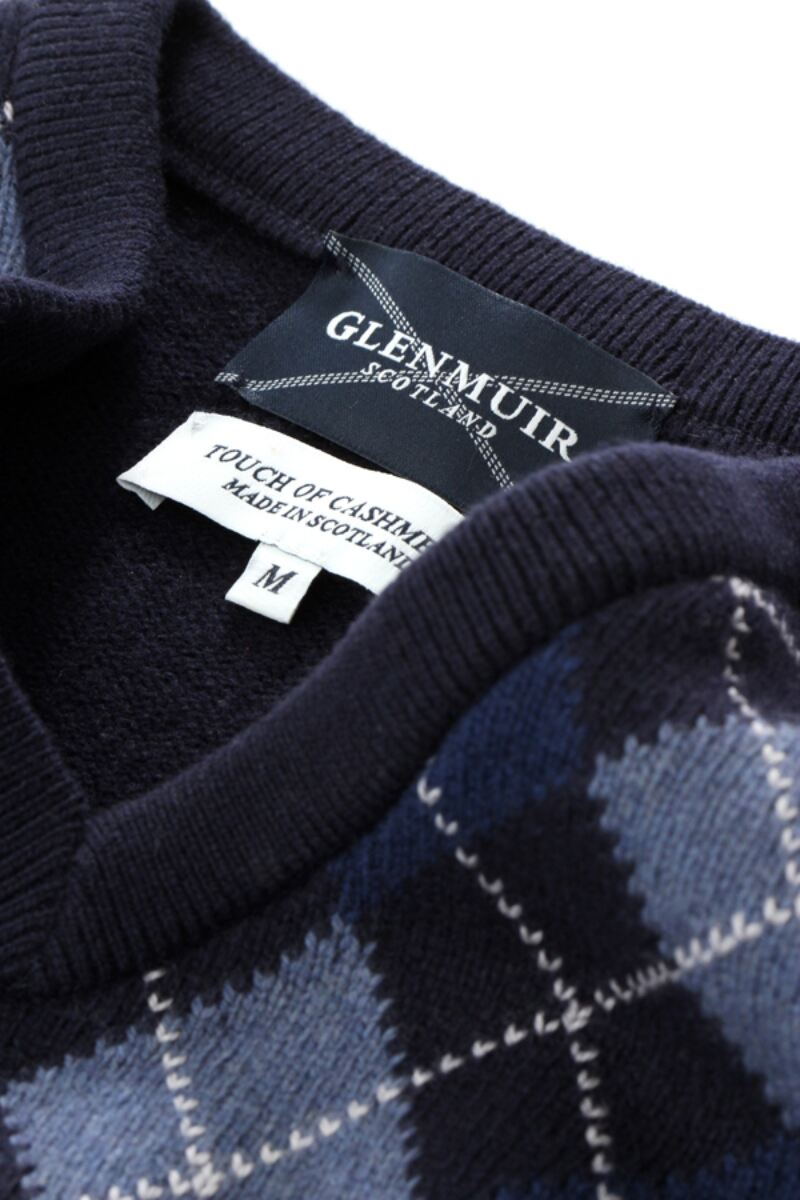 Heritage V Neck Argyle Touch of Cashmere Sweater Product Image 9