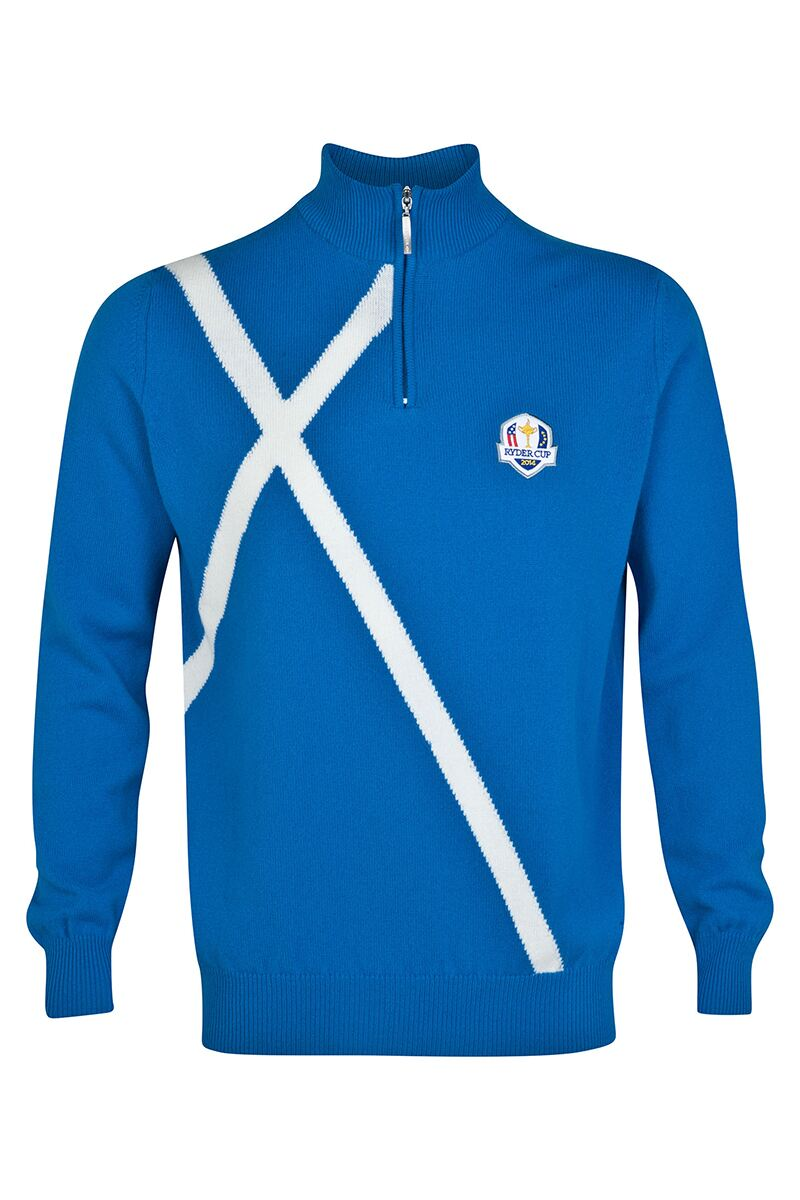 European Ryder Cup Team Saltire Zip Neck Sweater - Limited Edition Commemorative Sweater Product Swatch