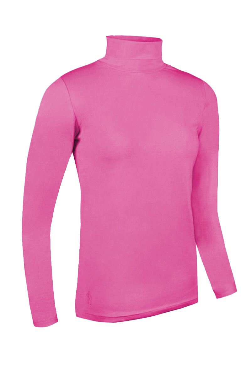 Ladies Roll Neck Long Sleeve Cotton Golf Polo Shirt Product Swatch