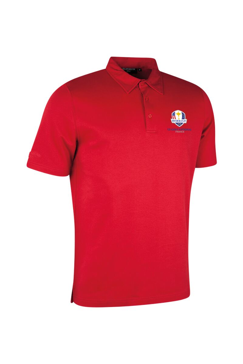 Official Ryder Cup 2018 Mens Luxury Pima Cotton Golf Polo Shirt Product Swatch