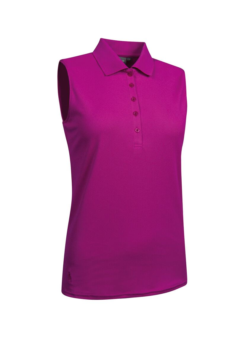 663dc2f7 Ladies Performance Pique Sleeveless Polo - Golf Shirt