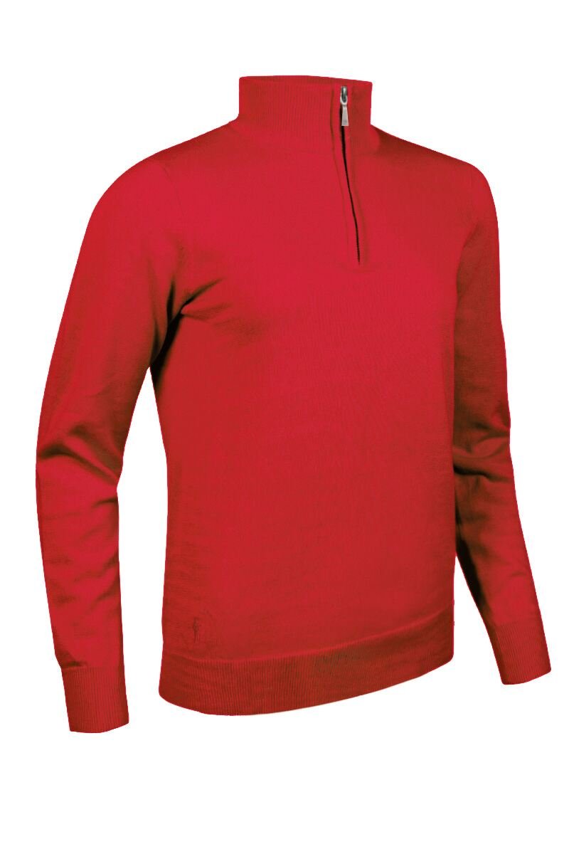 Ladies Zip Neck Cotton Golf Sweater Product Swatch
