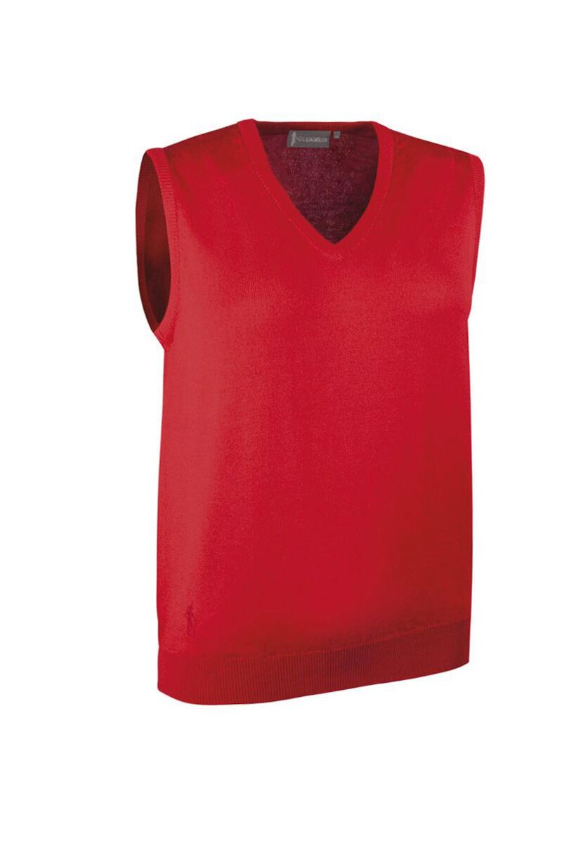 Ladies V Neck Merino Wool Golf Slipover Product Swatch
