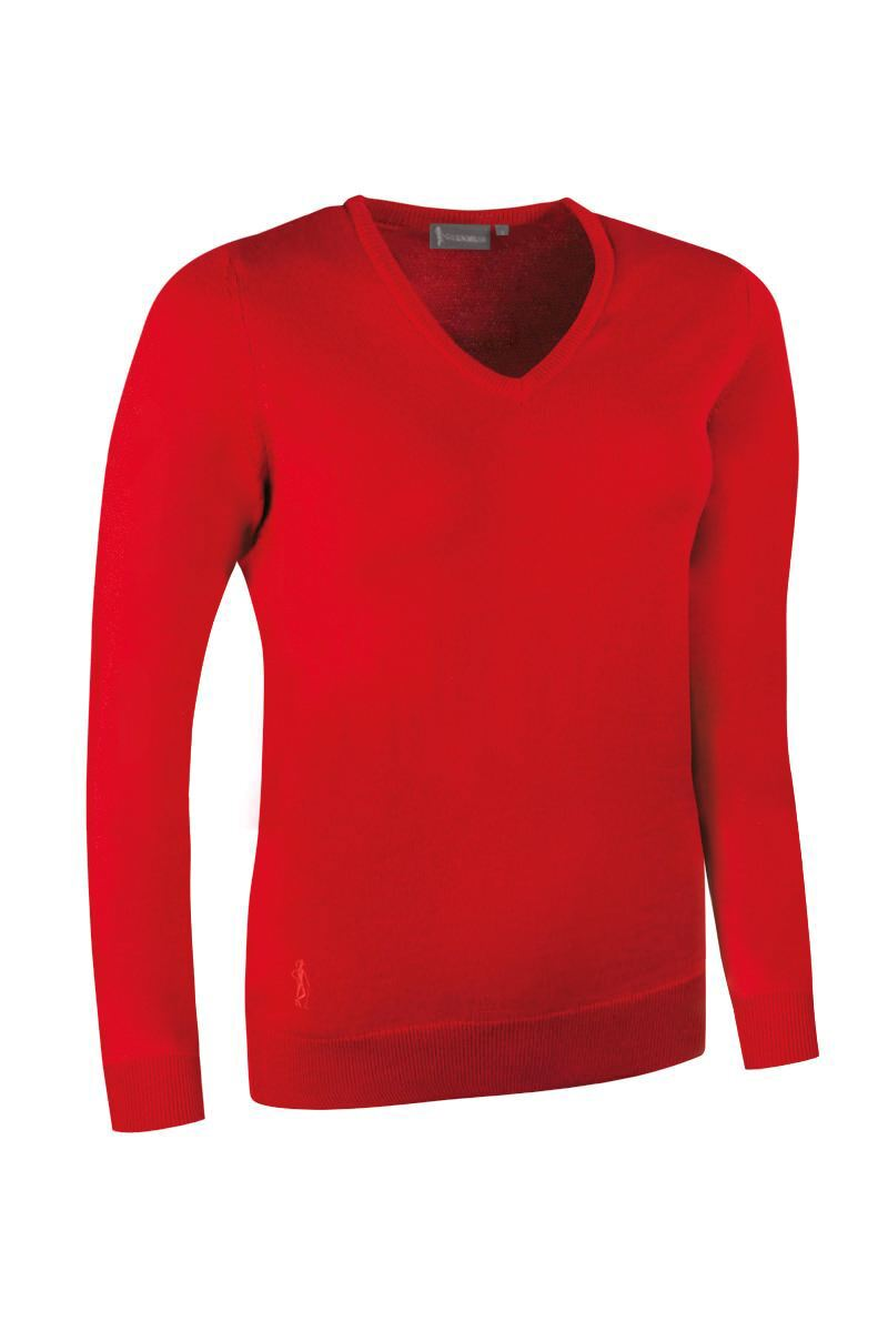 Ladies V Neck Merino Wool Golf Sweater Product Swatch