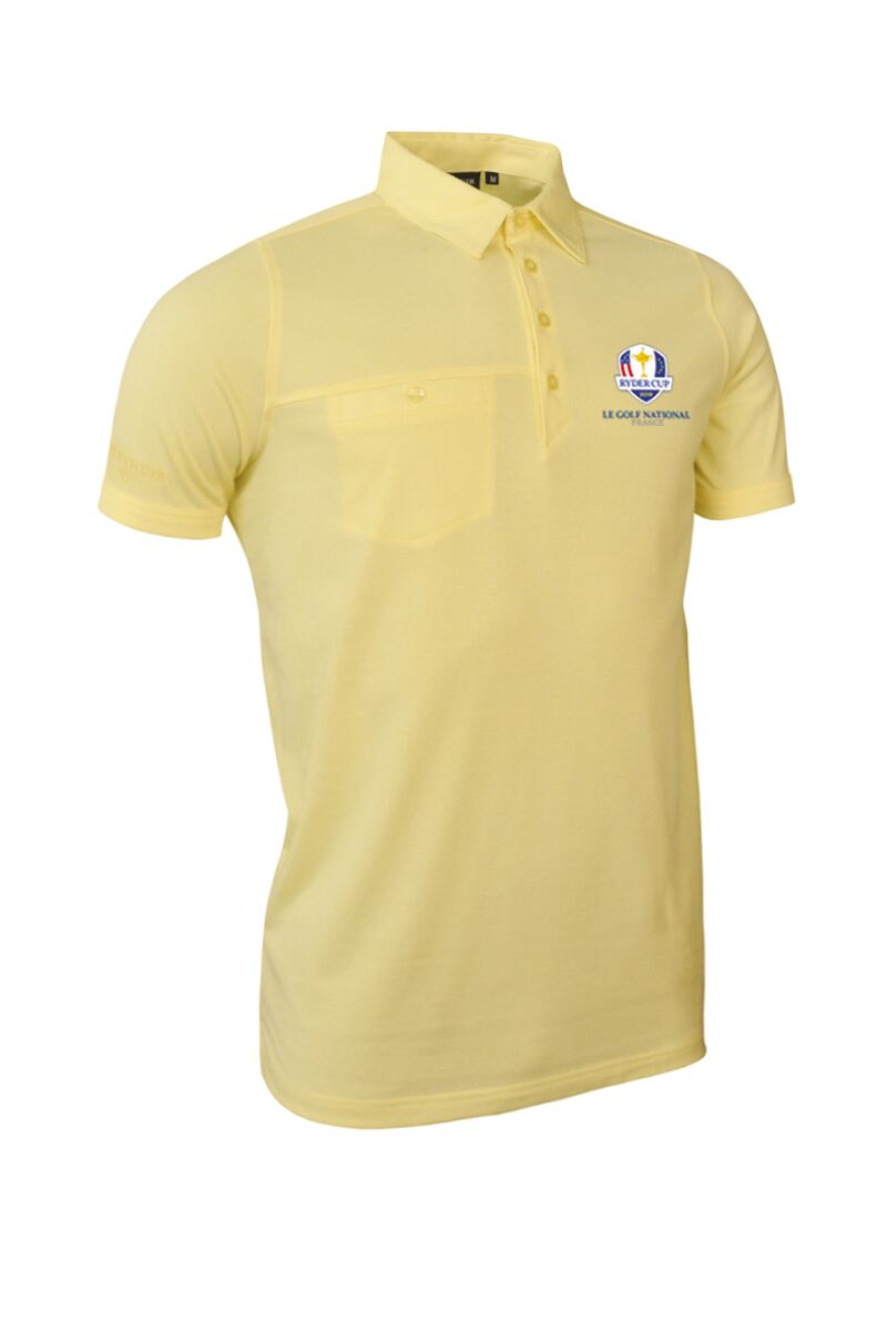 Official Ryder Cup 2018 Mens Chest Pocket Golf Polo Shirt Product Swatch