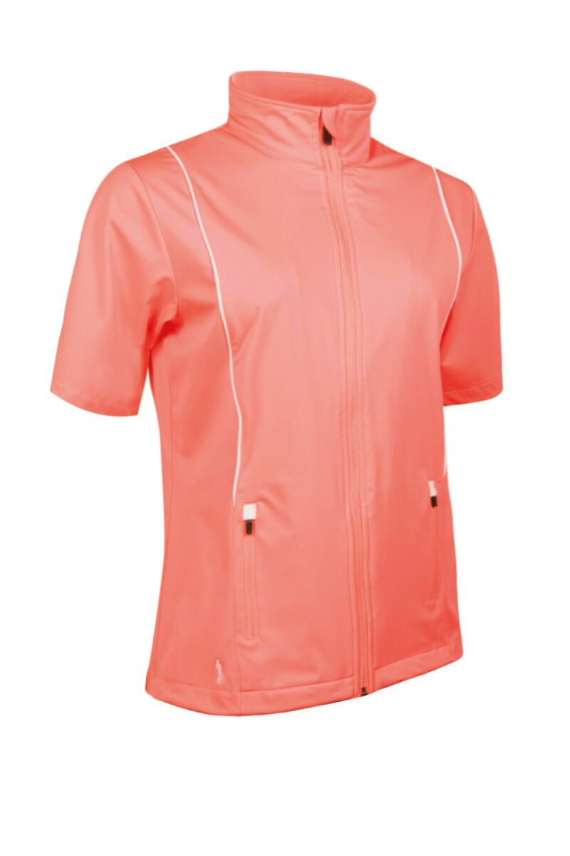Ladies Zip Front Half Sleeve Piping Detail Wind Jacket - Sale Product Swatch