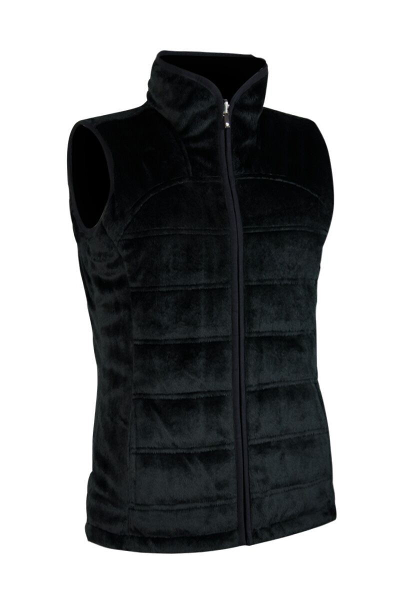 Ladies Zip Through Reversible Fleece Lined Quilted Gilet - Sale Product Swatch