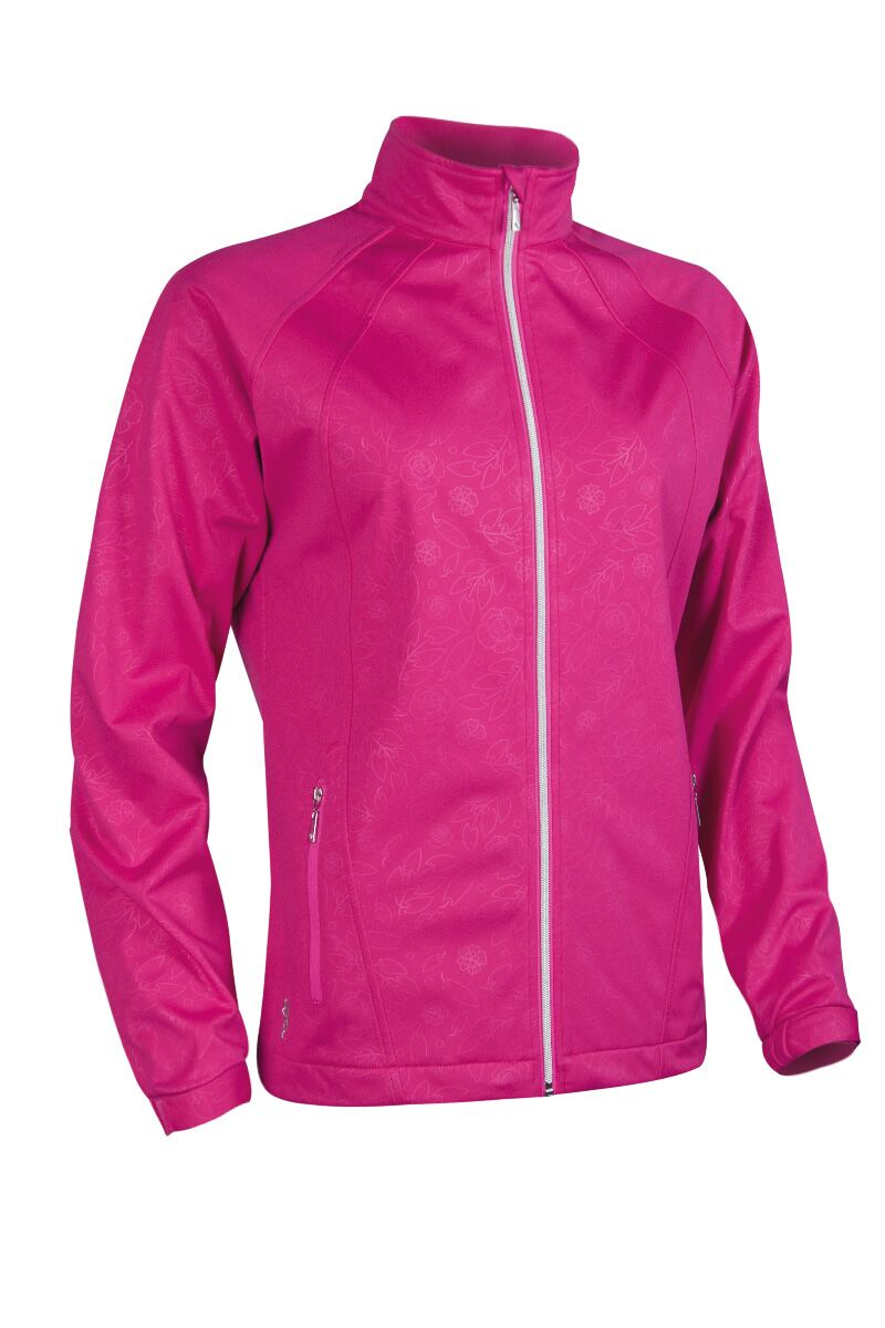 Ladies Zip Front Embossed Patterned Water Repellent Performance Golf Jacket - Sale Product Swatch