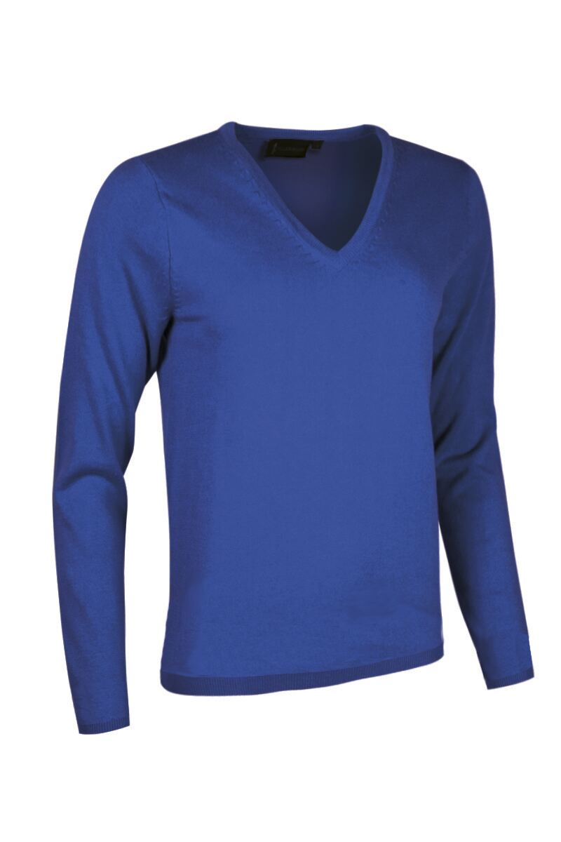 Ladies V Neck Cashmere Golf Sweater Product Swatch