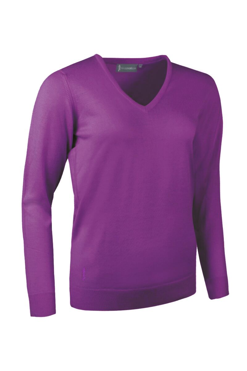 Ladies V Neck Merino Wool Golf Sweater - Sale Product Swatch