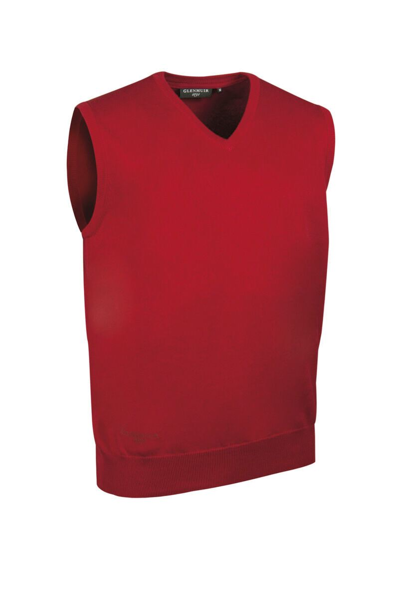 Mens V Neck Cotton Golf Slipover Product Swatch