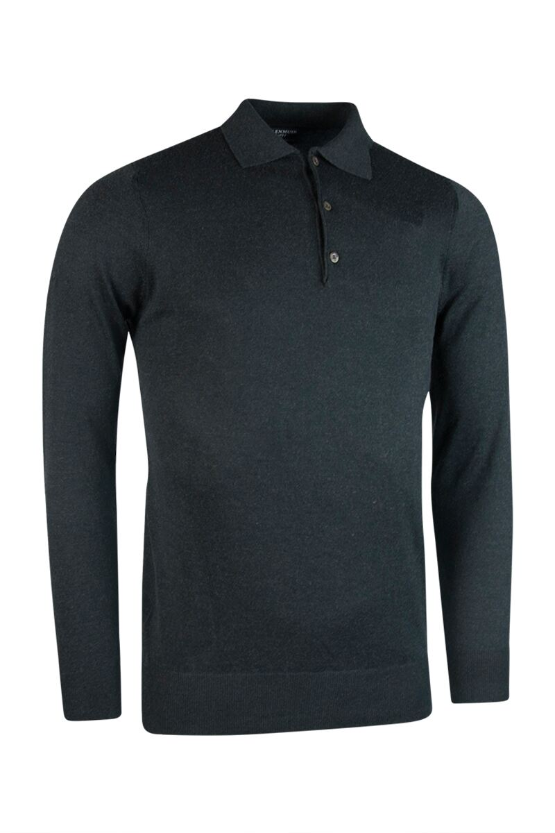 Mens Collared Touch of Cashmere Golf Sweater Product Swatch