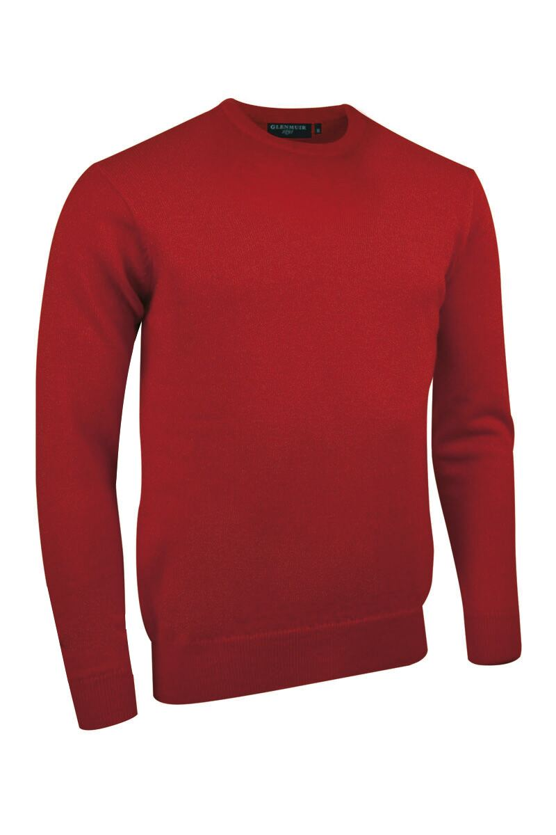 Mens Crew Neck Lambswool Golf Sweater Product Swatch