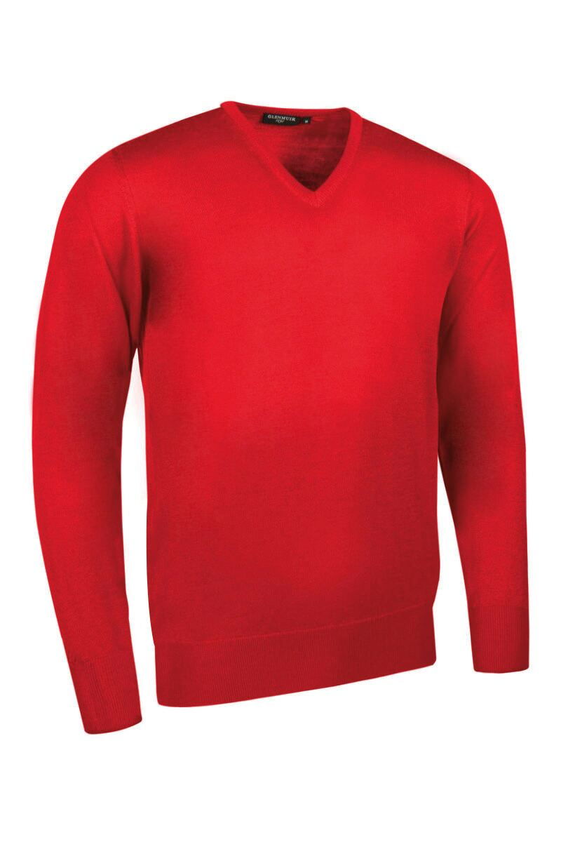 Mens V Neck Merino Wool Golf Sweater Product Swatch