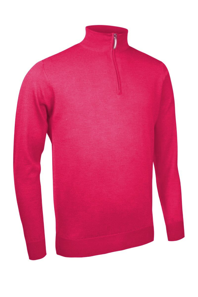 Mens Zip Neck Merino Wool Golf Sweater - Sale Product Swatch