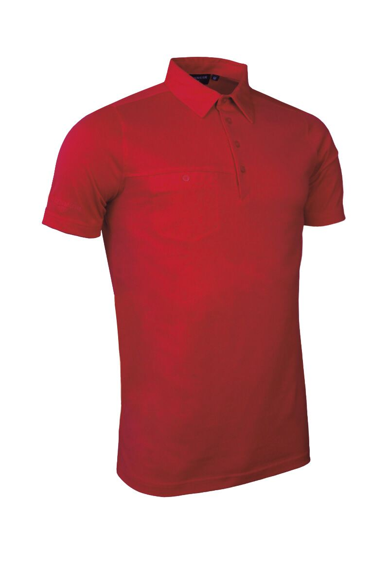 Mens Chest Pocket Performance Cotton Golf Polo Shirt Product Swatch