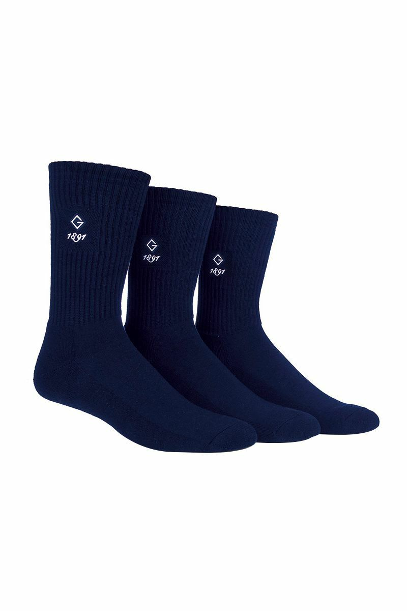 Mens 3 Pair Ribbed Cotton Golf Socks Gift Box Product Swatch