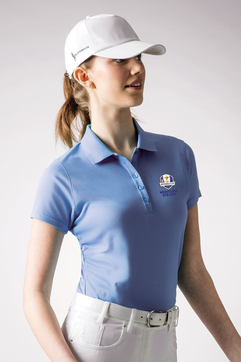 Official Ryder Cup 2020 Ladies Performance Pique Moisture Wicking Golf Polo Shirt