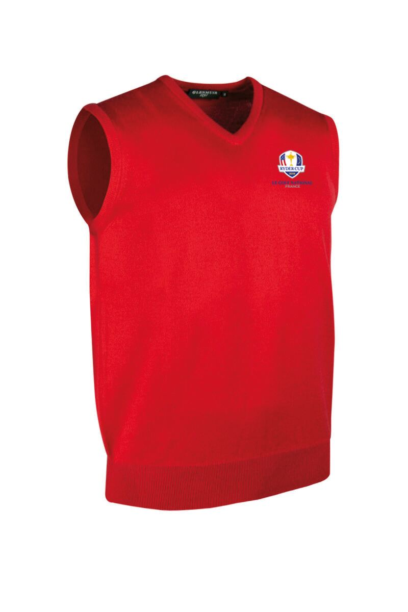 Official Ryder Cup 2018 Mens V Neck Merino Wool Golf Slipover Product Swatch