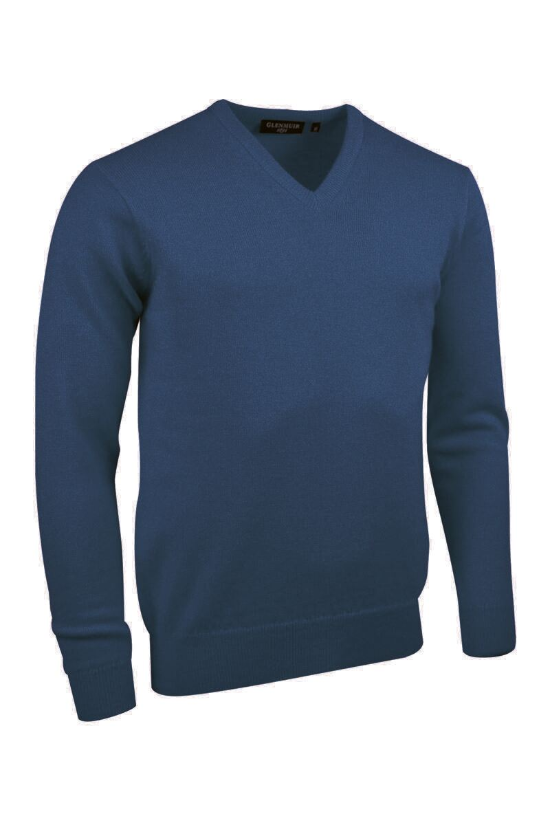 Mens V Neck Cashmere Golf Sweater Product Swatch