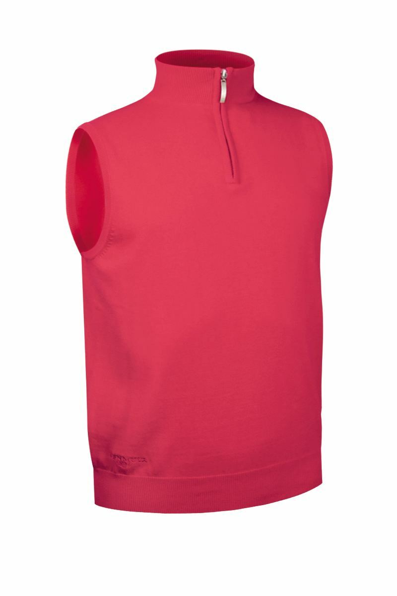 Mens Zip Neck Lightweight Cotton Golf Slipover - Sale Product Swatch