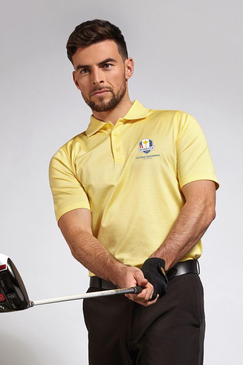 Official Ryder Cup 2018 Mens Plain Mercerised Golf Polo Shirt