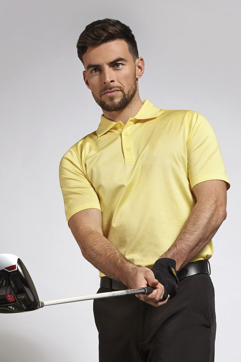 Mens Plain Mercerised Cotton Golf Polo Shirt Product Image 1