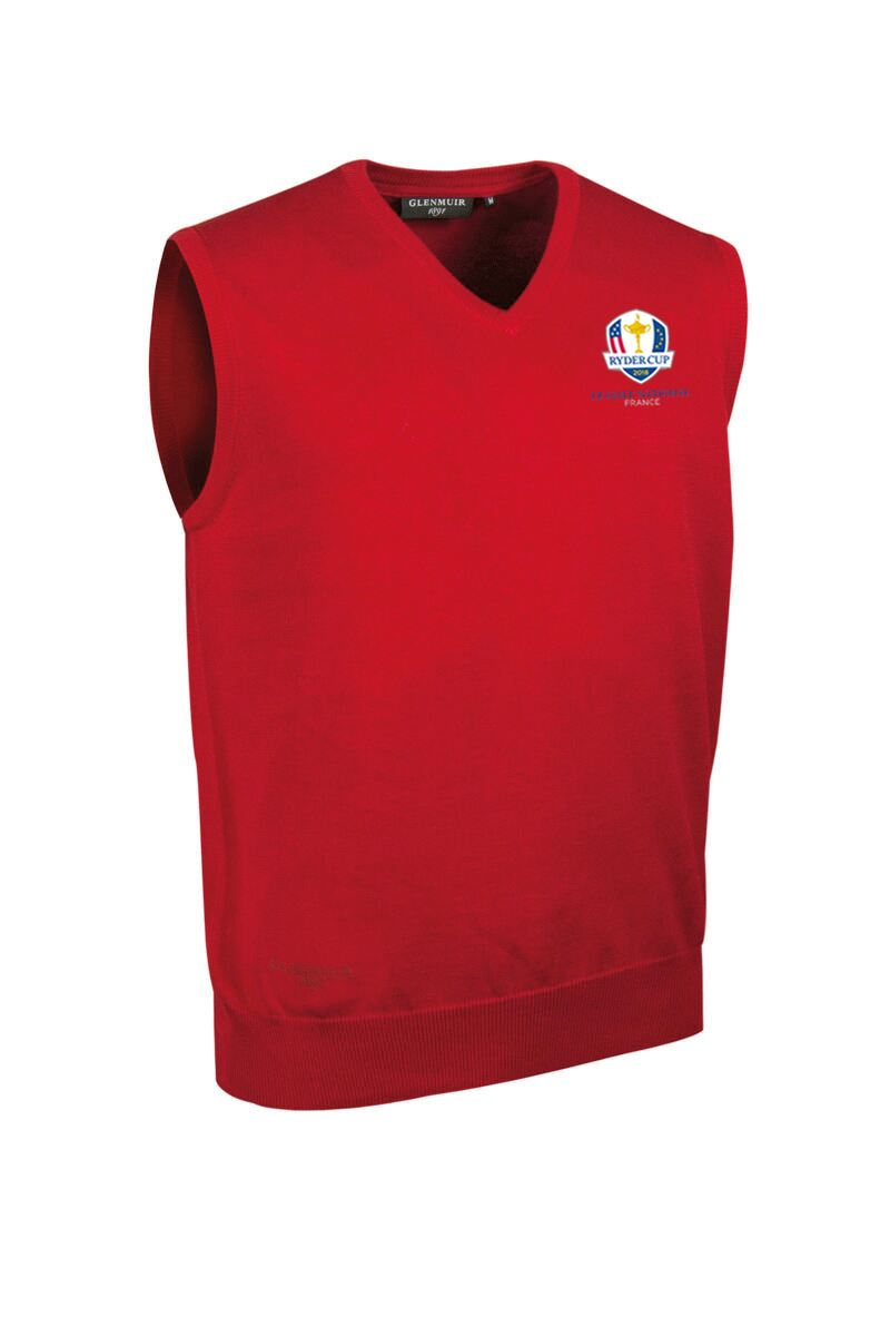 Official Ryder Cup 2018 Mens V Neck Cotton Golf Slipover Product Swatch