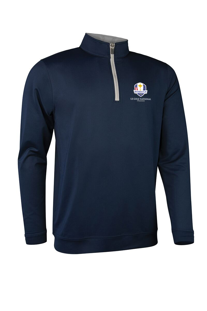 Official Ryder Cup 2018 Mens Zip Neck Lightweight Performance Golf Midlayer Product Swatch