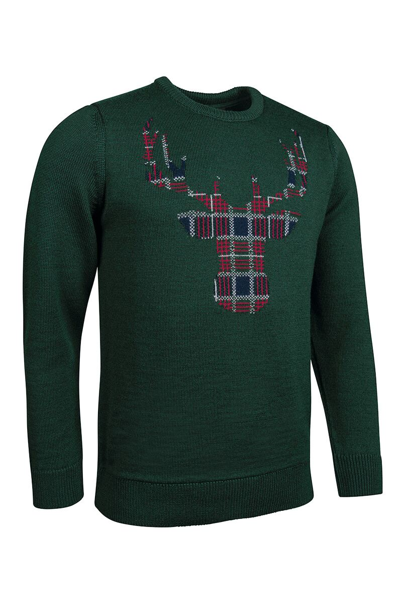 Mens Tartan Stag Christmas Sweater Product Swatch