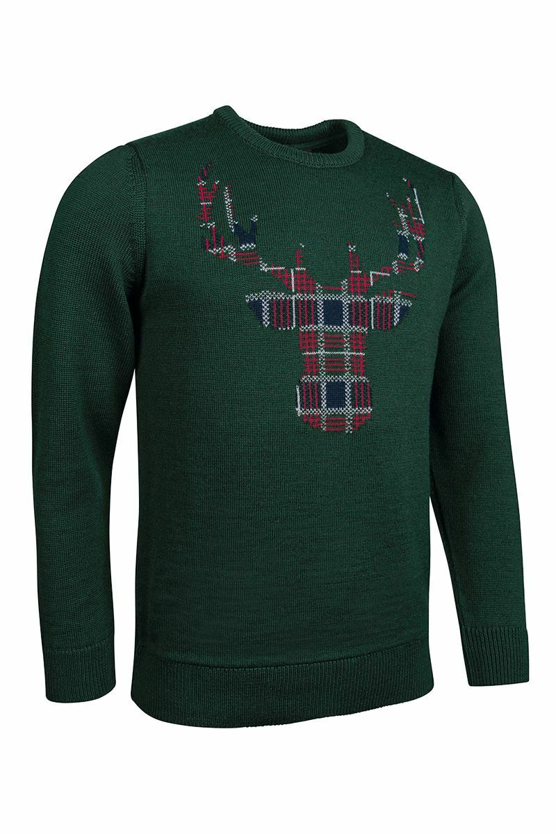 Mens Tartan Stag Christmas Sweater Product Image 4