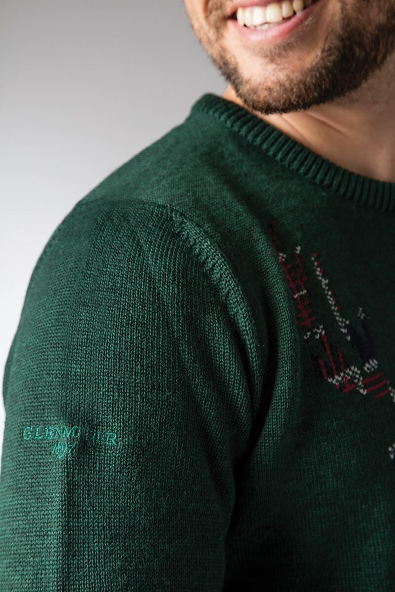 Mens Tartan Stag Christmas Sweater Product Image 3