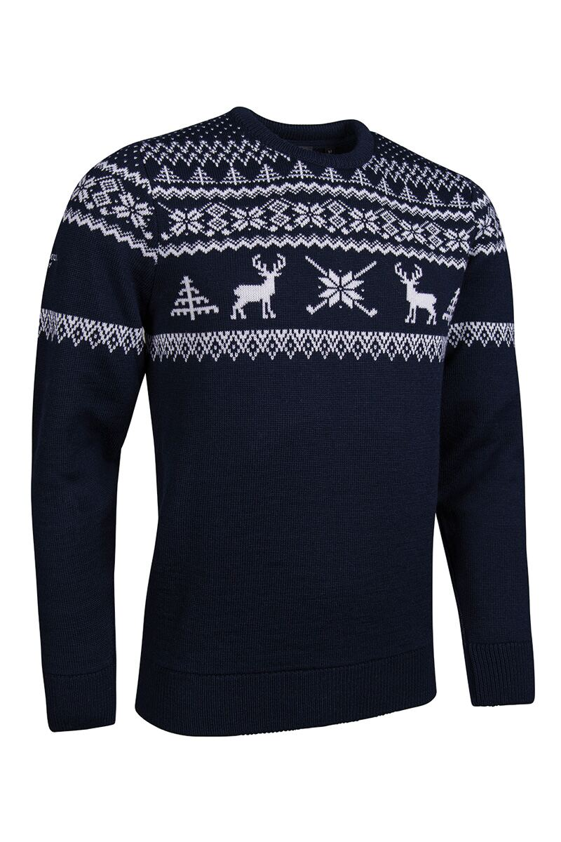Mens Fairisle Patterned Sweater Product Swatch