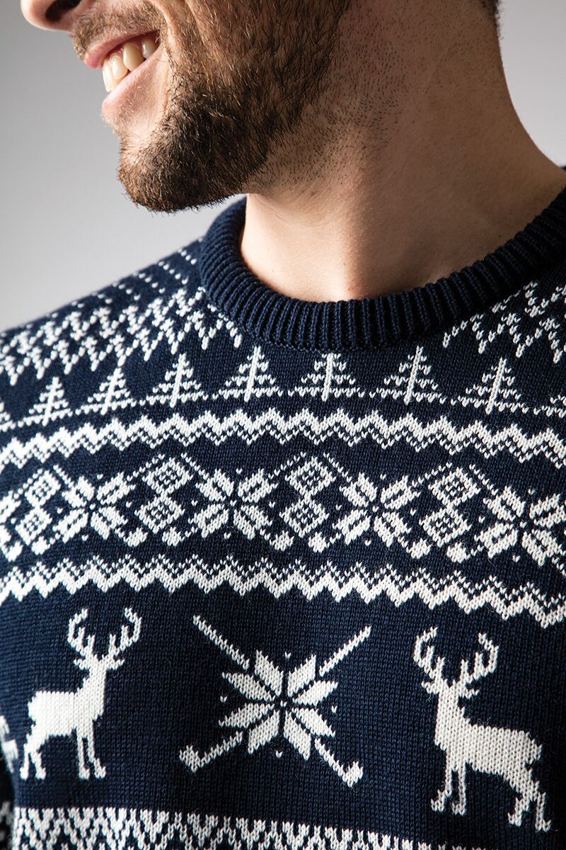 Mens Fairisle Patterned Sweater Product Image 2