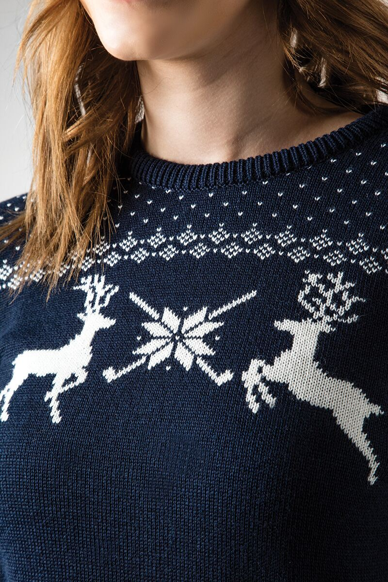 Ladies Fairisle Patterned Sweater Product Image 2