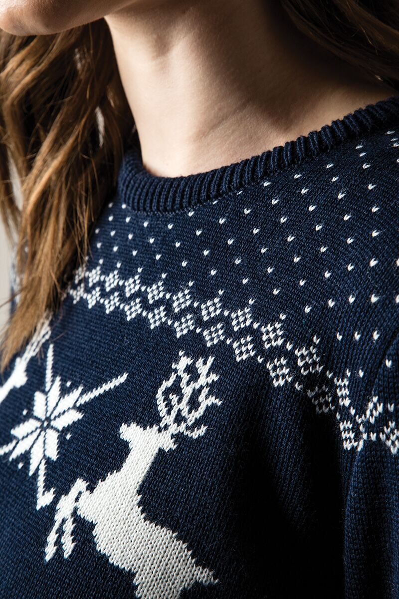 Ladies Fairisle Patterned Sweater Product Image 3