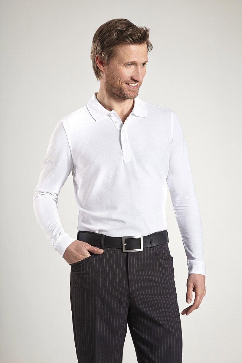 Glenmuir Mens Long Sleeve Pique Golf Polo Shirt